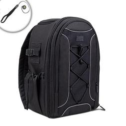 USA Gear Deluxe SLR Camera Backpack Case with Tripod Foot Ho