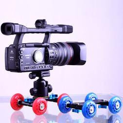 Desktop DSLR Camera Video Photograph Rail Rolling Track Slid