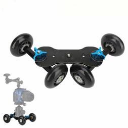 desktop dslr camera video wheels rail rolling
