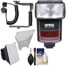 Sunpak DigiFlash 3000 iTTL Electronic Flash Unit with Bracke