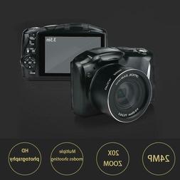 "Digital Camera 3.5"" LCD Screen 24 Megapixel HD 20X Zoom Camc"