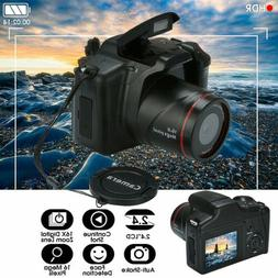 Digital SLR Camera 2.4 Inch TFT LCD Screen 1080P 16X Zoom Le