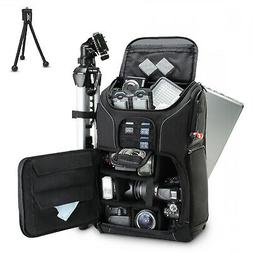Digital SLR Camera Backpack 15.6 Laptop Compartment Tripod H