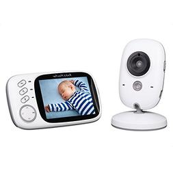 Baby Monitor 3.2inch LCD Display Video Baby Monitor With Nig