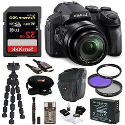 Panasonic DMC-FZ300K Digital Camera with 32GB SD Card and Ac
