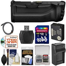 Panasonic DMW-BGG1 Battery Grip & DMW-BLC12 Pack for Lumix D