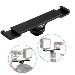 Ulanzi Double Hot Shoe Mount Extension Bar Dual Bracket for