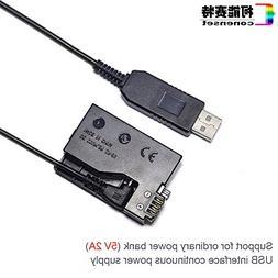 Conenset DR-E8 LP-E8 5V USB battery charger dummy battery DC