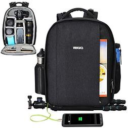 CADeN Camera Backpack Professional DSLR Bag with USB Chargin