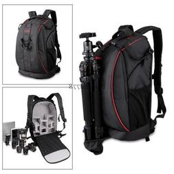 DSLR Bag Waterproof Nylon Camera Backpack Notebook Bag for C