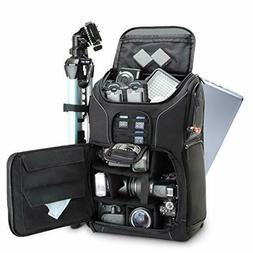 USA GEAR DSLR Camera Backpack Case  - 15.6 inch Laptop Compa