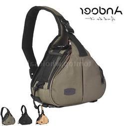 Andoer DSLR Camera Bag Cross Sling Carry Case Box Cover for