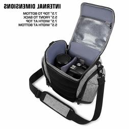 dslr camera bag sling gray with weather