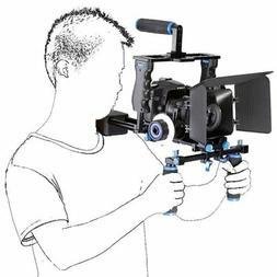 DSLR Camera Cage Rig Shoulder Mount Matte Box Follow Focus f