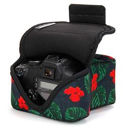 USA GEAR DSLR Camera Case/SLR Camera Sleeve Tropical with Ne