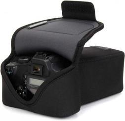 USA GEAR DSLR Camera Case SLR Zoom Sleeve  with Neoprene Bla