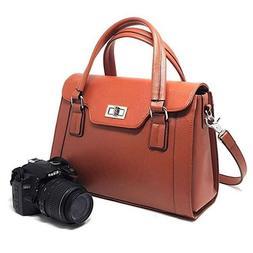 dslr camera handbag womens leather purse ladies