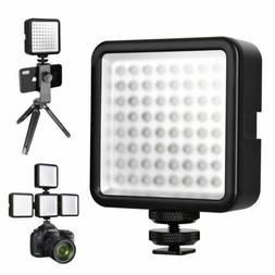 DSLR Camera LED Video Light Hot Shoe Lamp Photo Studio Light