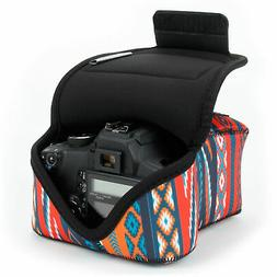 DSLR Camera Sleeve Case with Accessory Storage & Strap Openi