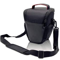 FOSOTO DSLR Camera Case Nylon Holster Bag Compatible for Nik