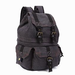 Emecca DSLR and Laptop Backpack Canvas Real Leather Camera R