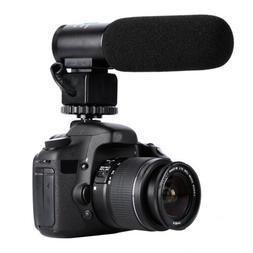 DSLR Camera Microphone Video Audio Shotgun Mic for Canon Nik