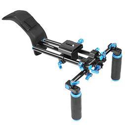 NEEWER® DSLR Shoulder Mount Support Rig with Camera/Camcord