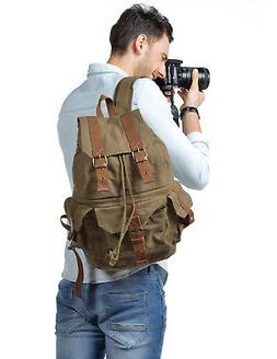 Kattee DSLR SLR Camera Backpack Rucksack Shoulder Canvas Bag