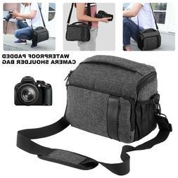 DSLR SLR Camera Shoulder Bag Waterproof Shockproof Messenger