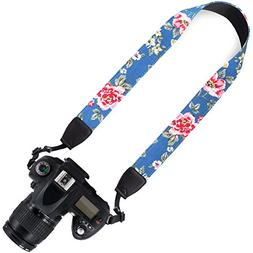 Wolven Canvas DSLR/SLR Camera Neck Shoulder Belt Strap for N