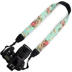Wolven Pattern Canvas Camera Neck Shoulder Strap Belt for Al