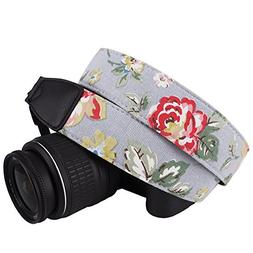 DSLR / SLR Camera Neck Shoulder Belt Strap - Wolven Cotton C