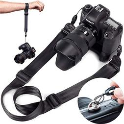 DSLR Camera Strap Quick Release | Hand Strap and ¼ Mounting