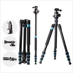 "Regetek 63"" Professional DSLR Camera Tripod Monopod with 360"