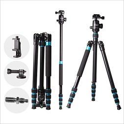 "Regetek 63"" Professional DSLR Camera Tripod Monopod with 360"