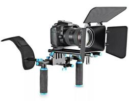 DSLR Video Rig Set Movie Kit Film Making System Shoulder Mou