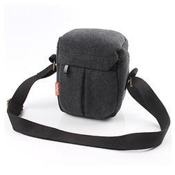 CEARI DSLR Camera Water Resistant Canvas Camera Case Bag for