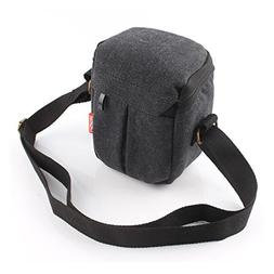 CEARI DSLR Camera Water Resistant Canvas Camera Case Bag for