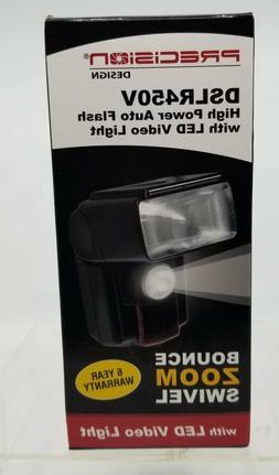 Precision Design DSLR450V High Power Auto Flash with LED Lig
