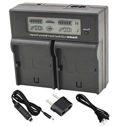 Kastar LCD Dual Smart Fast Charger for Canon LP-E8, LPE8 and