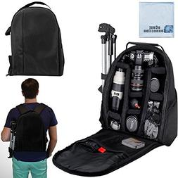 eCost BKP457 Deluxe Camera/Video Padded Backpack for SLR / D
