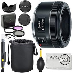 Canon EF 50mm f/1.8 STM Lens + 3pc Filter Kit + Lens Pen + B