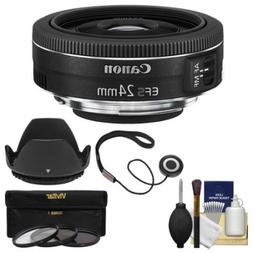 Canon EF-S 24mm f/2.8 STM Wide Angle Lens with 3 Filters + H