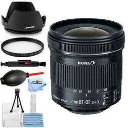 Canon EF-S 10-18mm f/4.5-5.6 IS STM Lens + UV Filter + Hood