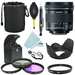 Canon EF-S 10-18mm f/4.5-5.6 IS STM Lens + Lens hood + Filte