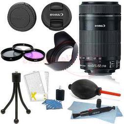 Canon EF-S 55-250mm f/4-5.6 IS STM Lens for DSLR Cameras + A