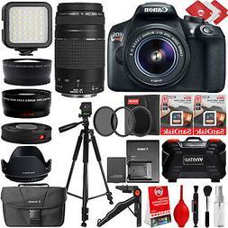 Canon EOS 1300D Rebel T6 DSLR Camera + 24PC 4 Lens 8 to 600m