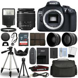 Canon Rebel T6 / 1300D DSLR Camera + 18-55mm 3 Lens Kit + 16