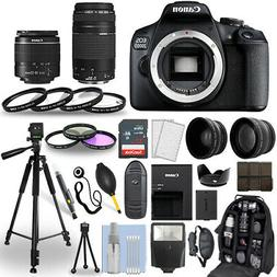 Canon EOS 2000D / Rebel T7 DSLR Camera + 18-55mm + 75-300mm