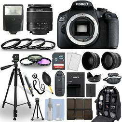 Canon EOS 2000D / Rebel T7 DSLR Camera + 18-55mm Lens+ 30 Pi